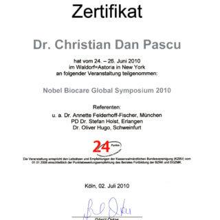 Dr. Mariana Mintcheva: Zertifikat  NYC