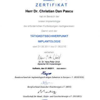 Dr. Christian Pacu Tätigkeitsschwerpunkte